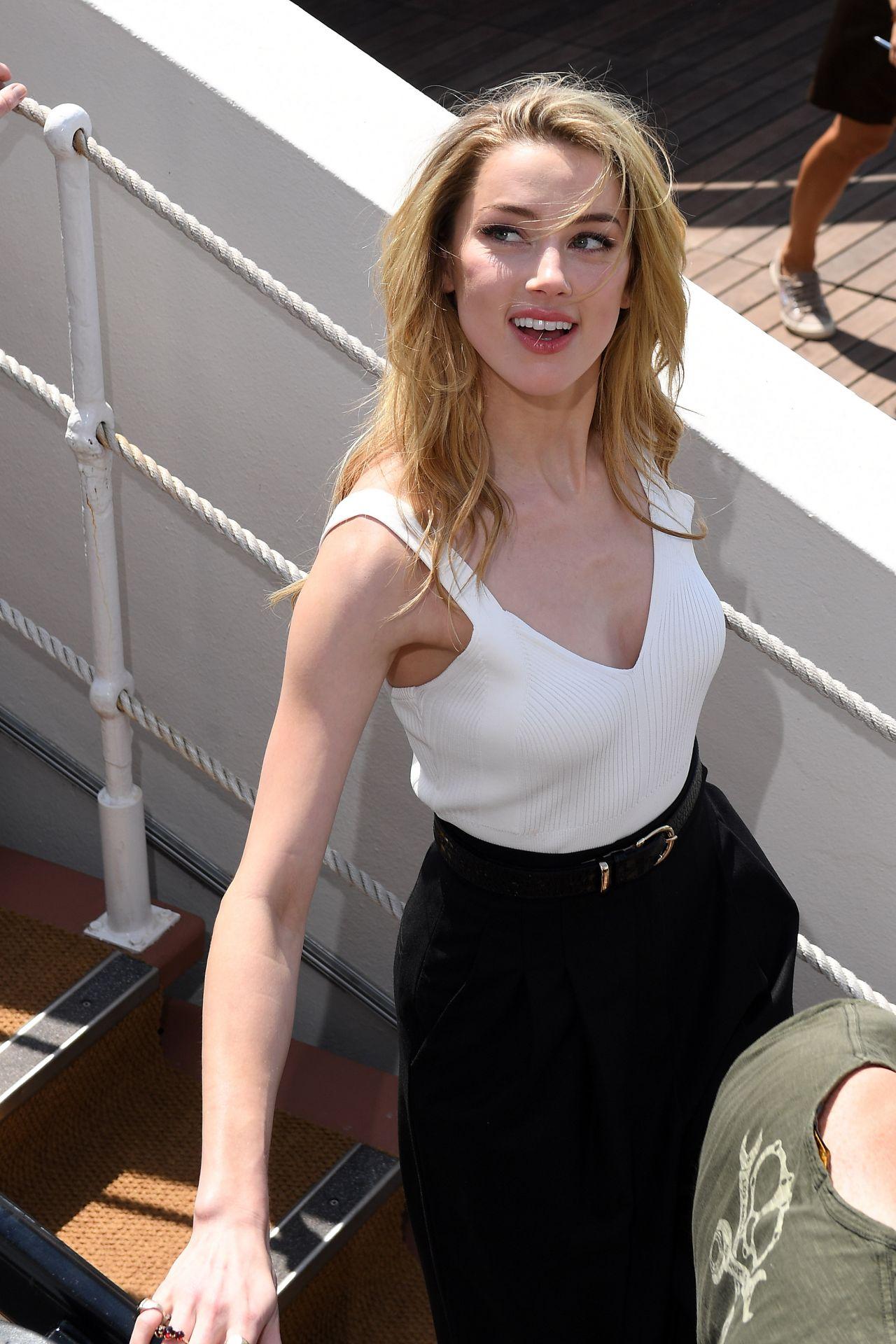 Amber Heard in a White...