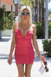 Angelique Morgan in Skintight Mini Dress in Beverly Hills 05/16/2018
