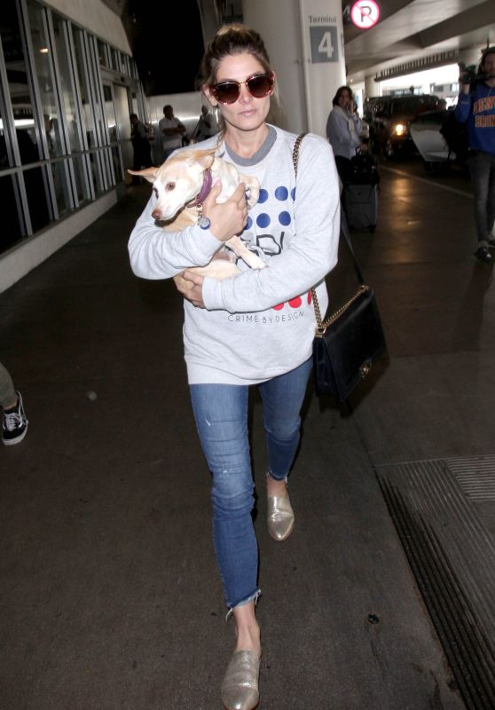 Ashley Greene - Carrying Her Dog Through LAX Airport in LA 05/23/2018