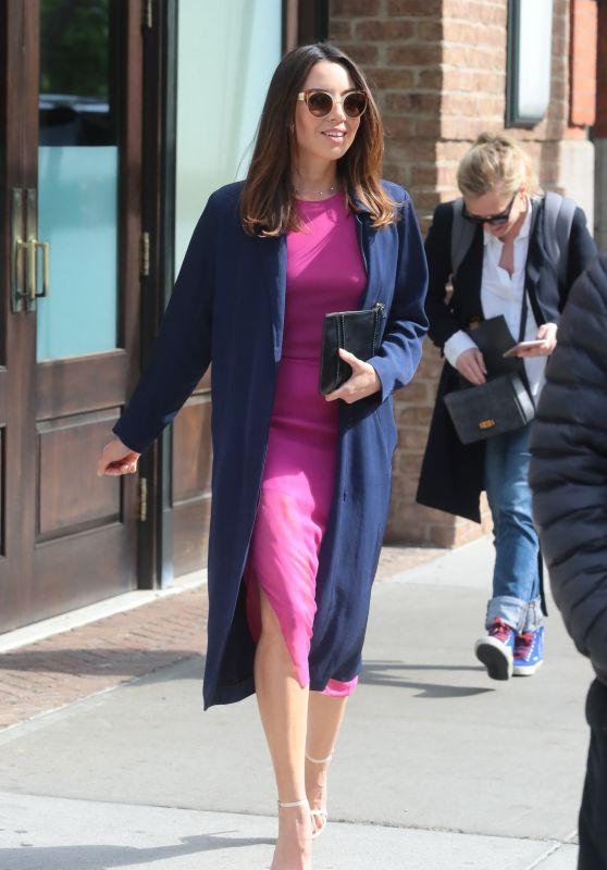 Aubrey Plaza - Leaving the Greenwich Hotel in New York 05/10/2018