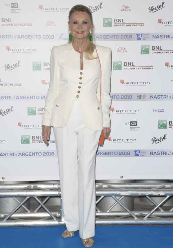 Barbara Bouchet – Nastri D'Argento 2018 Blu Carpet in Rome