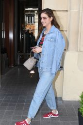 Barbara Palvin in Casual Outfit - Leaves Royal Monceau Hotel 05/03/2018