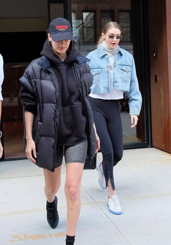 Bella Hadid and Gigi Hadid - Out in New York City 05/01/2018