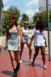 Bella Hadid and Hailey Baldwin - Leave Yardbird Southern in Miami 04/30/2018