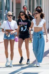 Bella Hadid and Hailey Baldwin - Leaving the Kith Store in Miami Beach