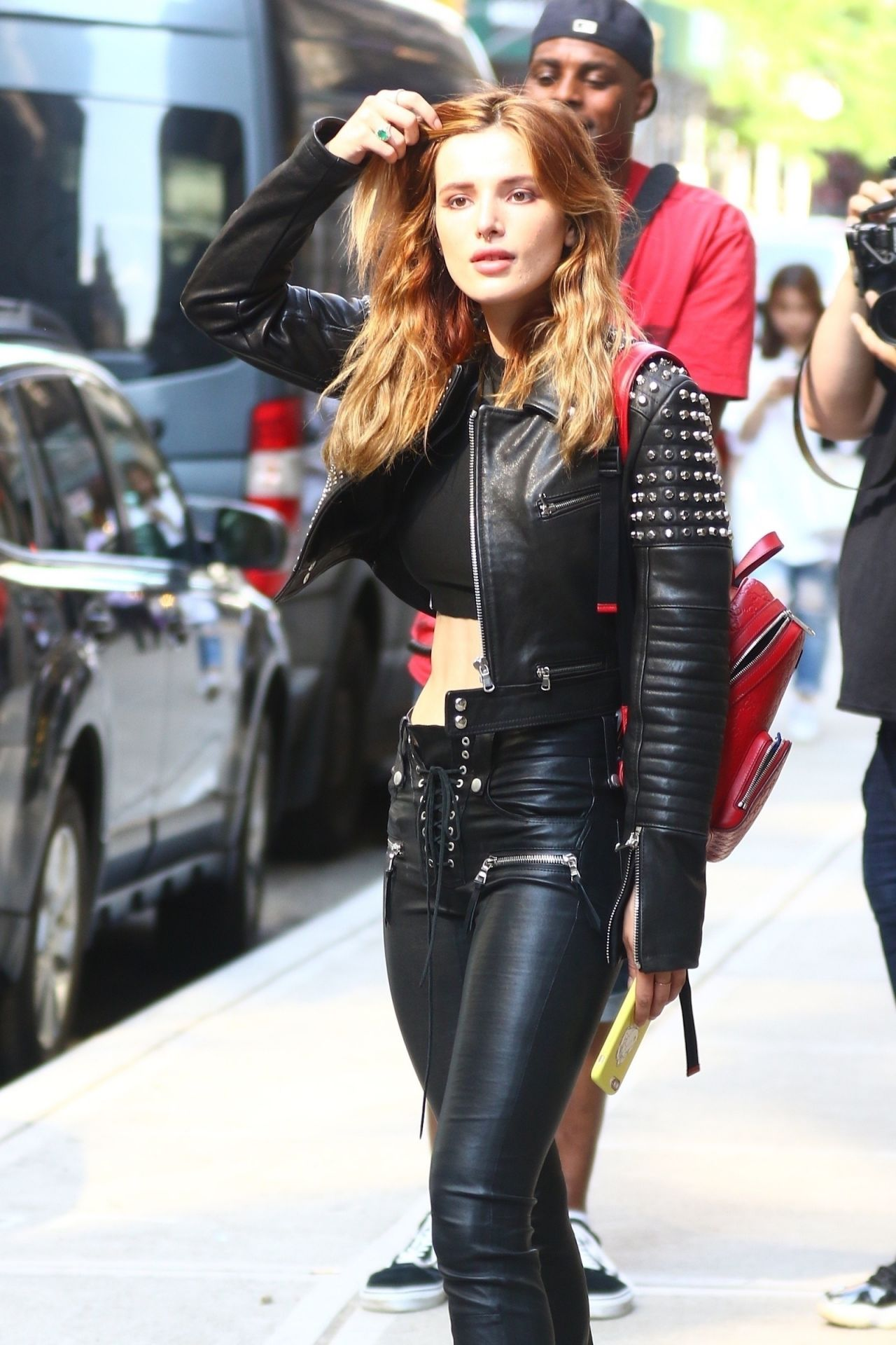 Bella Thorne In A Black Leather - New York City 05232018-1710