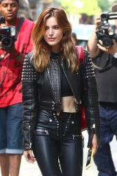 Bella Thorne in a Black Leather - New York City 05/23/2018