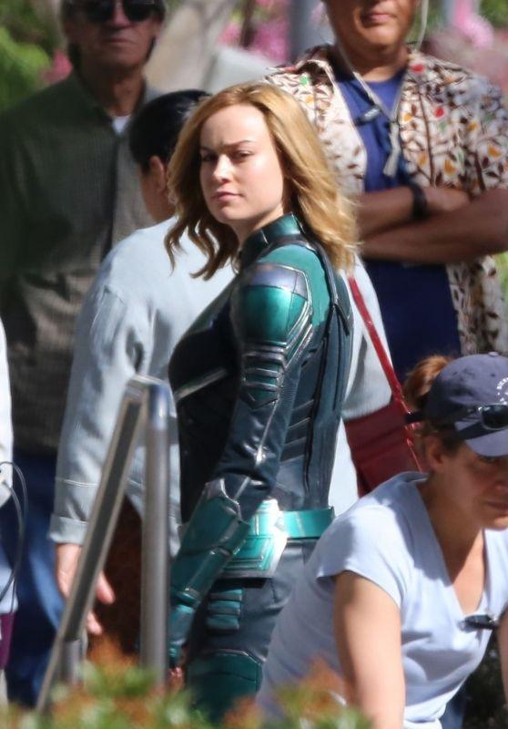 "Brie Larson - ""Captain Marvel"" Movie Set in Los Angeles 05/09/2018"
