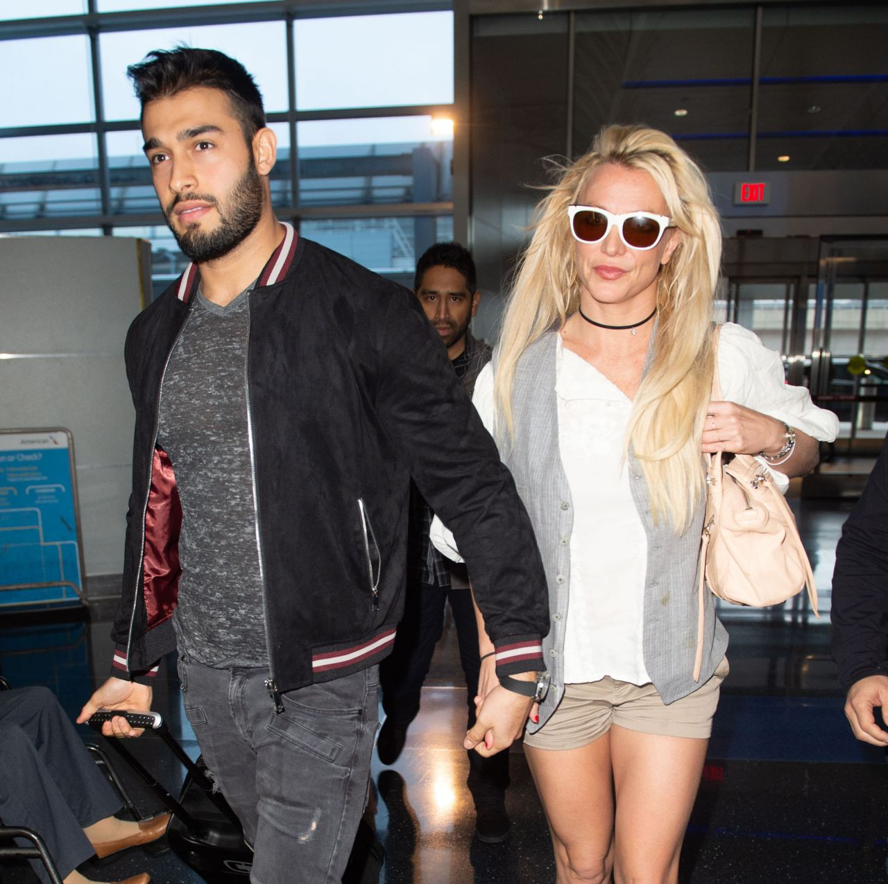 Britney Spears holds hands with her love Sam Asghari and
