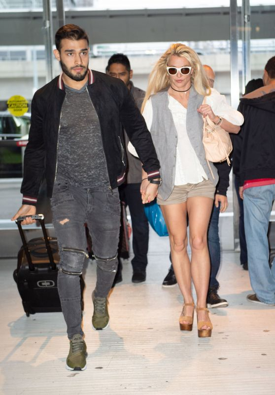 Britney Spears and Boyfriend Sam Asghari at JFK Airport in NYC, May 2018