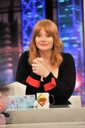 Bryce Dallas Howard - Visits the TV Show El Hormiguero in Madrid 05/21/2018