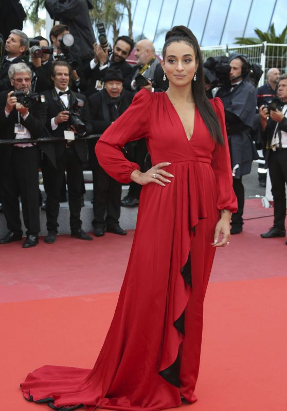 "Camelia Jordana – ""BlacKkKlansman"" Red Carpet in Cannes"