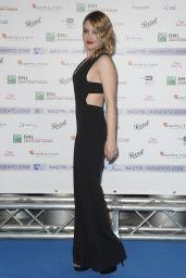 Carolina Crescentini – Nastri D'Argento 2018 Blu Carpet in Rome