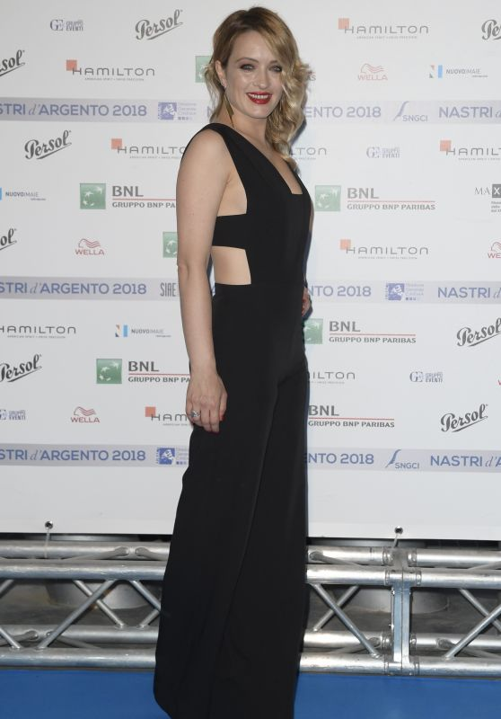 Carolina Crescentini – Nastri D'Argento 2018 Blu Carpet in Rome