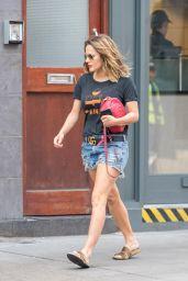Caroline Flack in Jeans Shorts - Heading For Pamper Session in London 05/23/2018
