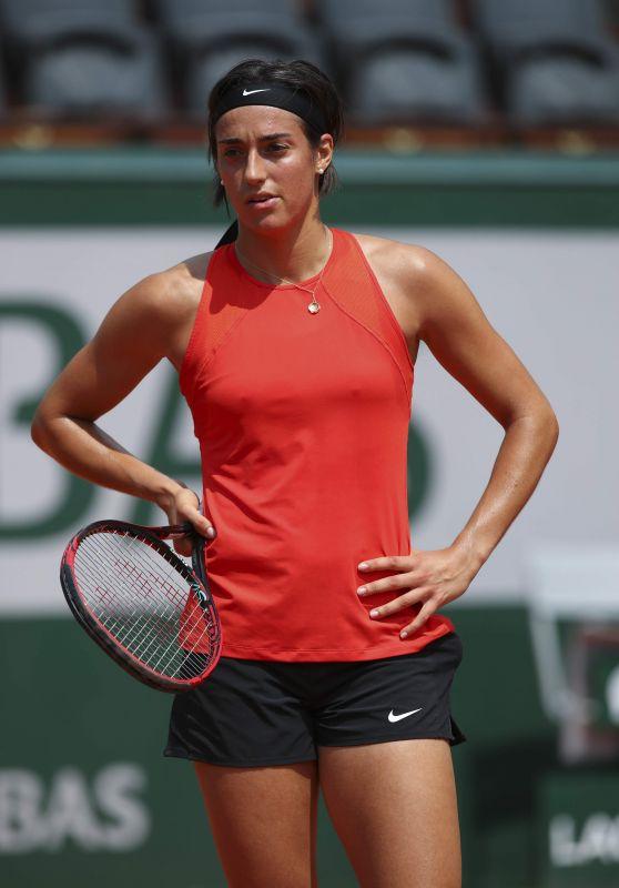 Caroline Garcia – Practices at 2018 Roland Garros in Paris 05/24/2018