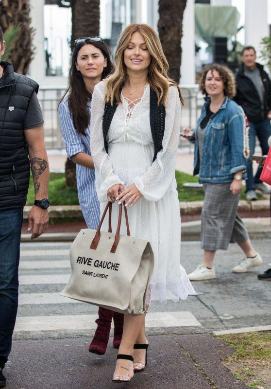 Caroline Receveur and Boyfriend Hugo Philip Out in Cannes 05/13/2018