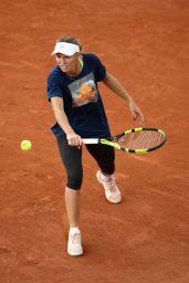 Caroline Wozniacki - Practices at Roland-Garros Stadium in Paris 05/25/2018
