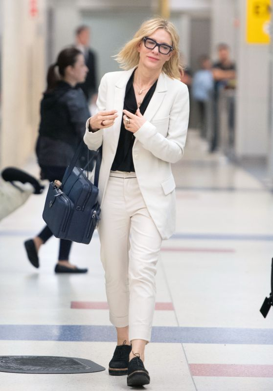 Cate Blanchett - Arives at JFK Airport in NYC 05/22/2018