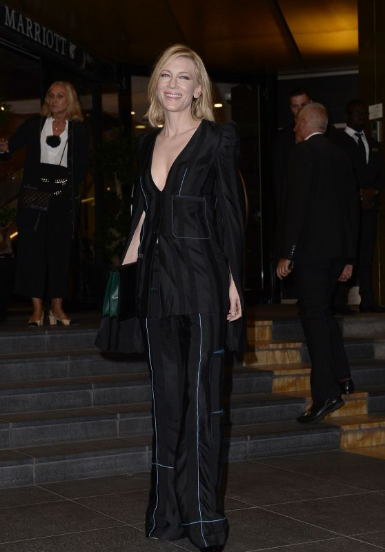 Cate Blanchett at The Marriott Hotel in Cannes 05/09/2018