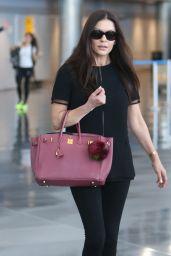 Catherine Zeta-Jones at JFK airport in NYC 05/09/2018