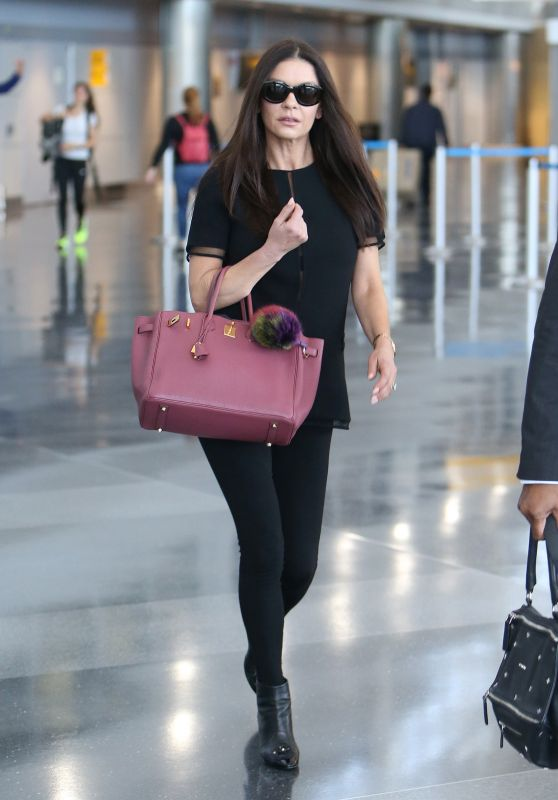 Catherine Zeta-Jones at JFK airport in NYC 05/09/2018