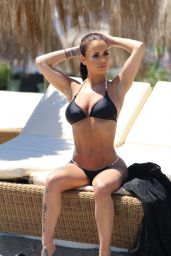 Chantelle Connelly in Bikini on the Beach in Gran Canaria 05/03/2018