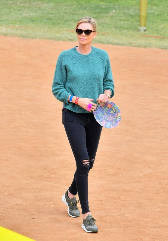 Charlize Theron at a Local Carnival in LA 05/12/2018