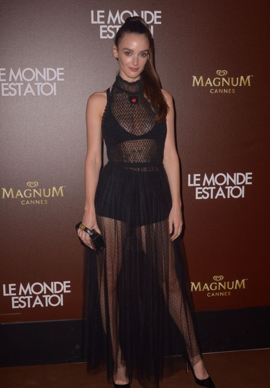 """Charlotte Lebon - """"The World is Yours"""" Photocall on the Magnum Beach in Cannes"""