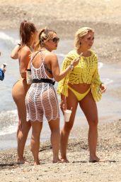 Chloe Goodman, Lauryn Goodman, Gaby Allen and Tyne-Lexy Clarson Bikini Candids - Marbella 05/26/2018