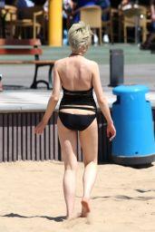 Chloe Jasmine in a Black Swimsuit on the Beach in Cape Verde 04/29/2018