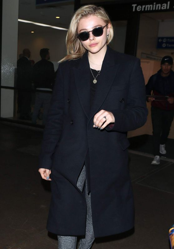 Chloe Moretz at LAX in Los Angeles 05/01/2018