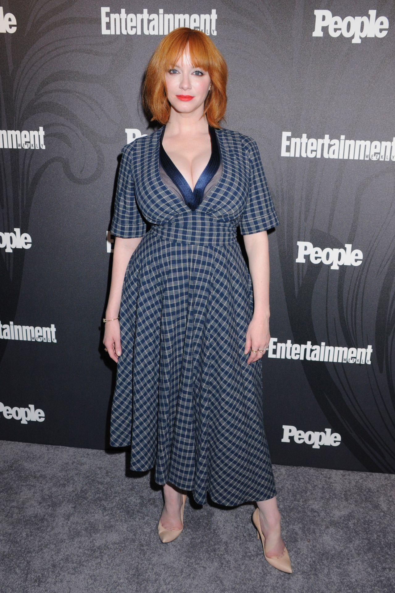 Christina Hendricks 2018 Ew And People Upfronts Party In
