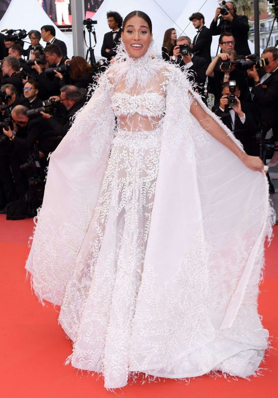 "Cindy Bruna – ""Burning"" Red Carpet in Cannes"