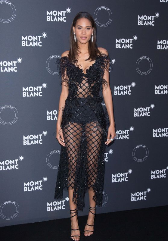 Cindy Bruna – Montblanc Dinner in Cannes 05/16/2018