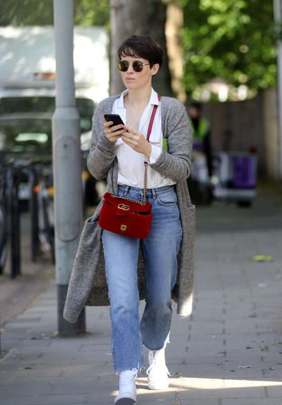 Claire Foy Street Style - London 05/17/2018