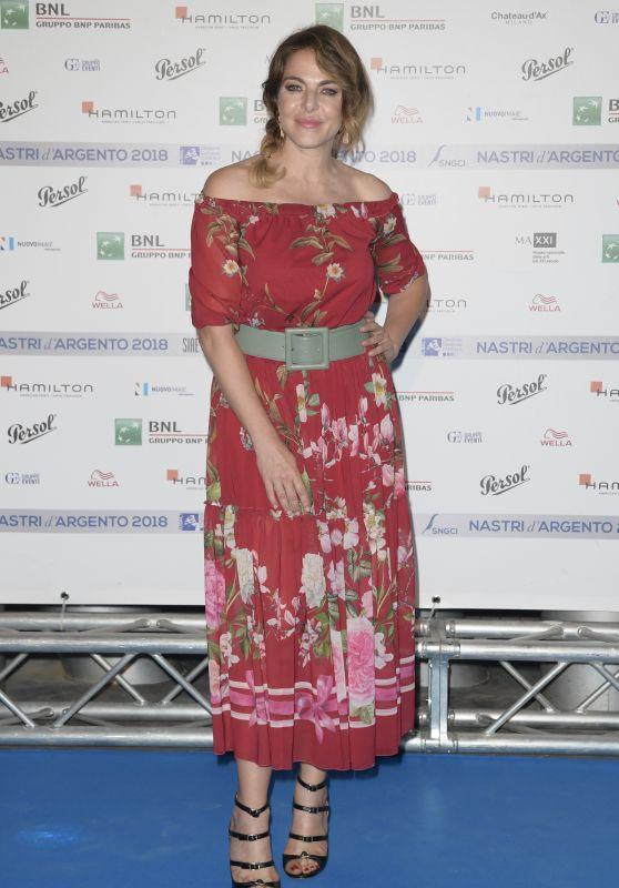 Claudia Gerini – Nastri D'Argento 2018 Blu Carpet in Rome