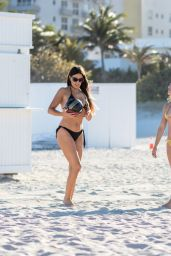Claudia Romani and Melissa Lori in Bikinis on South Beach in Miami 05/13/2018