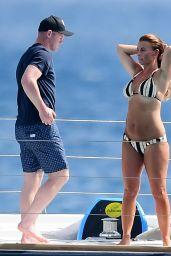 Coleen Rooney in Bikini on a Catamaran in Barbados 05/28/2018