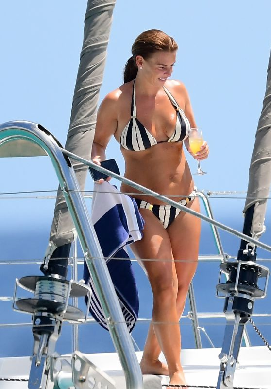 Coleen Rooney in Bikini on a Catamaran in Barbados 05/28/2018