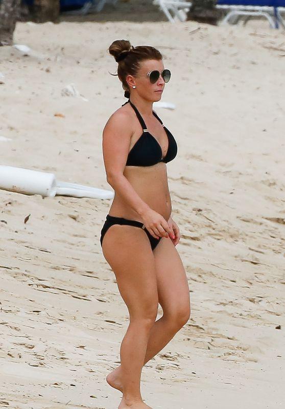 Coleen Rooney in Bikini on the Beach in Barbados 05/21/2018
