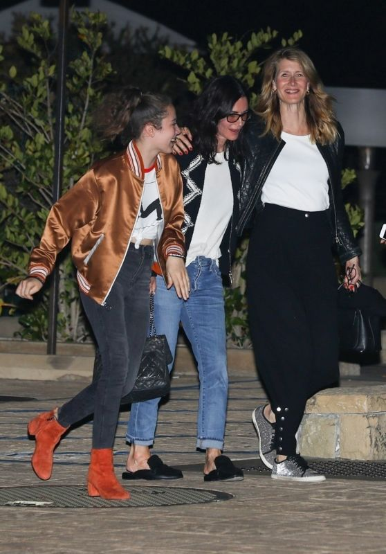 Courteney Cox and Laura Dern Night Out at Nobu in Malibu 05/26/2018