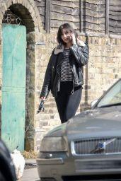 Daisy Lowe - Walks Her Dog in North London 05/03/2018