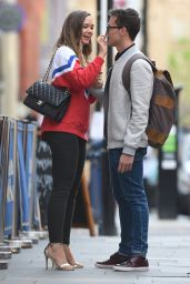 Daisy Wood Davis and Luke Jerdy - Leaving The Gotham Hotel in Manchester 05/17/2018