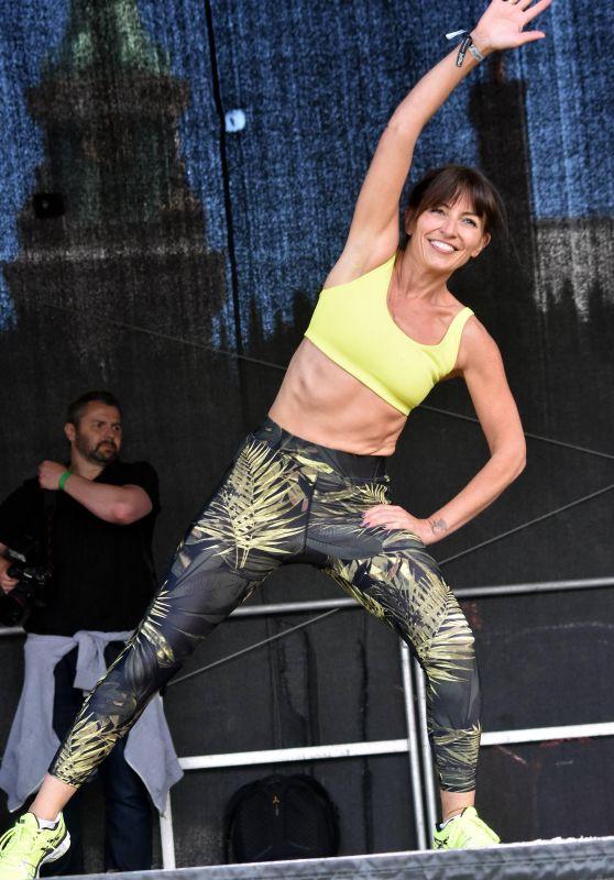 Davina McCall - Welfest Fitness Festival in Dublin