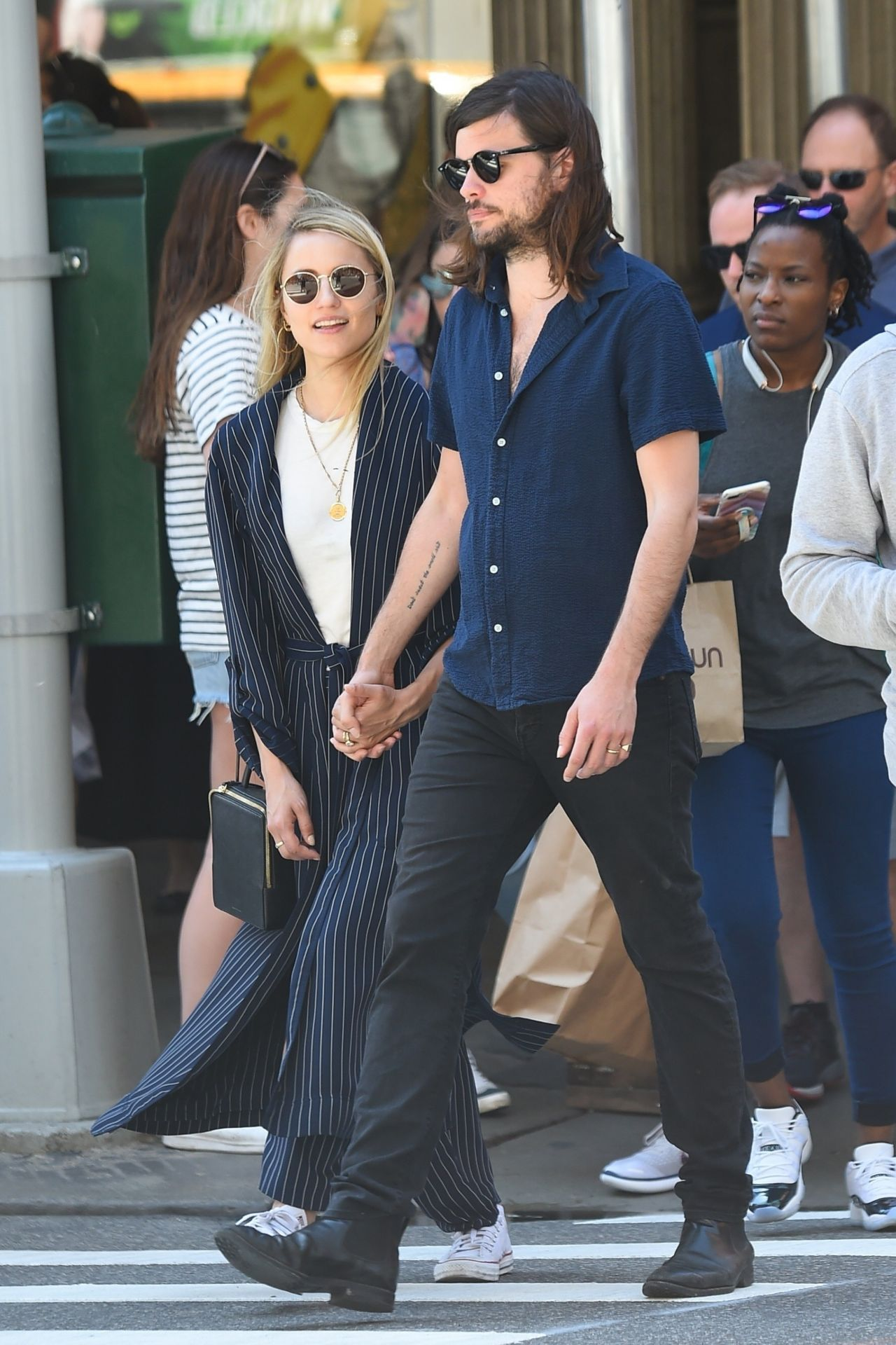 Dianna Agron and Her Husband Winston Marshall Stroll in ...