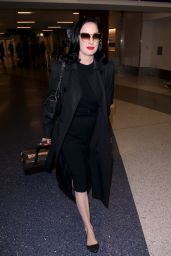 Dita Von Teese at LAX International Airport in Los Angeles 05/20/2018