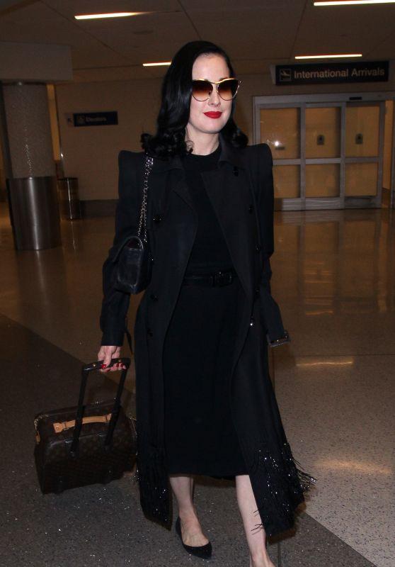 Dita Von Teese at LAX International Airport in Los Angeles 05/20/2018