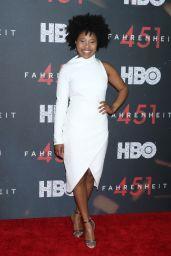"""Dominique Fishback – """"Fahrenheit 451"""" Premiere in NYC"""