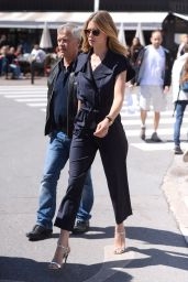 Doutzen Kroes in a Navy Blue Boiler Suit in Cannes 05/14/2018